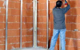 Как крепить профиль для гипсокартона к стене