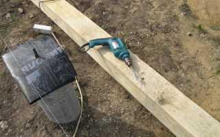Как прикрепить брус к бетонной стене?
