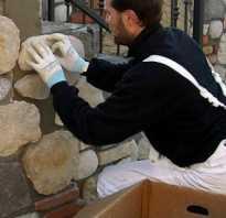 Как клеить декоративный камень на стены, видео, инструкция