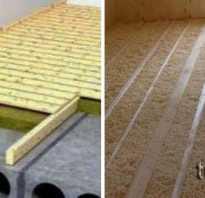 Утепление потолка в частном доме